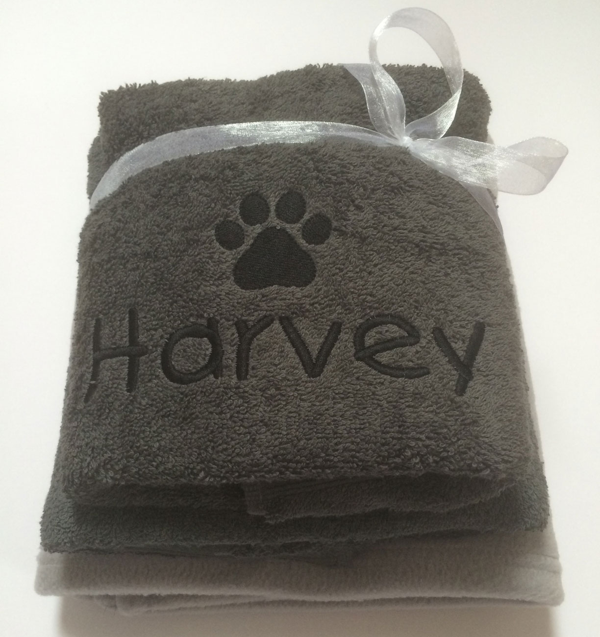 Personalised Dog Bath Towel Set By My Posh Paws