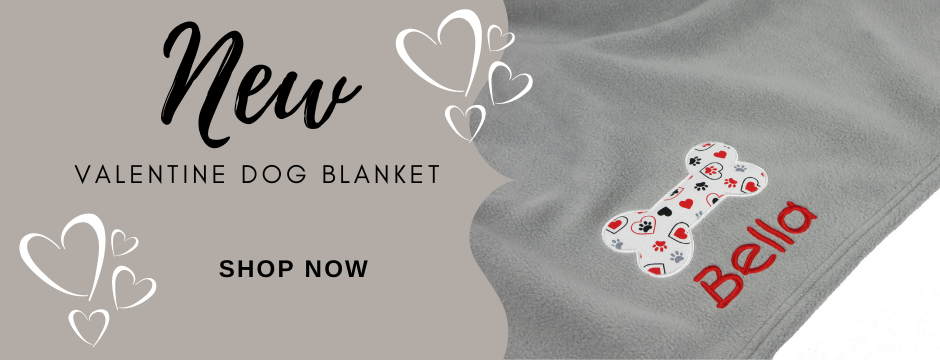 New - Valentine Dog Blanket