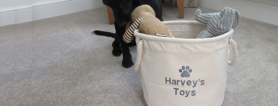 Personalised Dog Toy Storage Bag