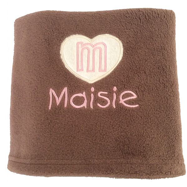 Personalised Cat Blanket with Applique Heart