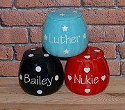 Personalised Treat Jar Polka Design
