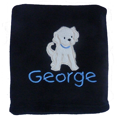 Personalised Puppy Dog Blanket