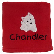 Personalised Westie Dog Blanket