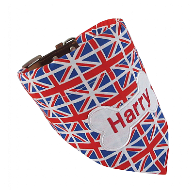 Personalised Dog Bandana - Union Jack