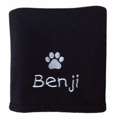 Personalised Dog Blanket with Paw Print