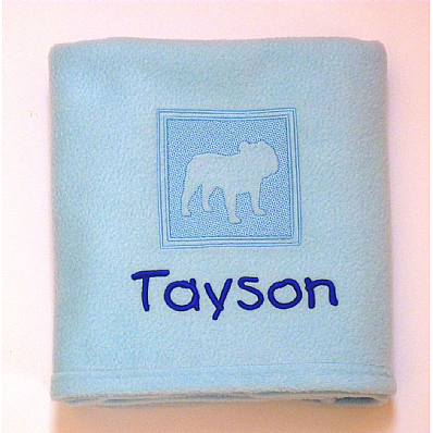 Personalised Bulldog Blanket