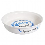 Personalised Cat Bowl - Blue