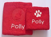 Personalised Cat Towel Set
