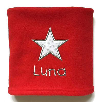 Personalised Dog Blanket with Christmas Star