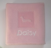 Personalised Dachshund Blanket