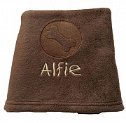 Personalised Dog Blanket with Embossed Bone