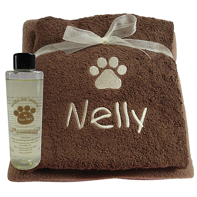 Personalised Dog Gift Set with Natural Dog Shampoo