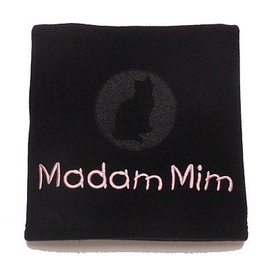 Personalised Cat Blanket with Embossed Cat