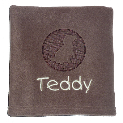 Personalised Dog Blanket with Embossed Dog