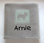 Personalised French Bulldog Blanket