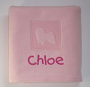 Personalised Maltese Dog Blanket