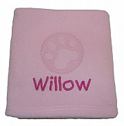 Personalised Cat Blanket with Embossed Paw