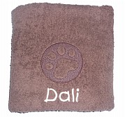 Personalised Cat Towel with Embossed Paw