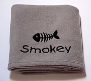 Personalised Cat Blanket with Fish Bone