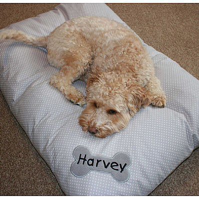 Snoozers - Grey Personalised Dog Duvet Bed