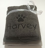 Personalised Dog Gift Set with Paw Print
