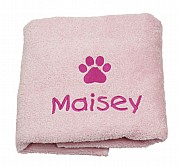 Personalised Puppy Towel