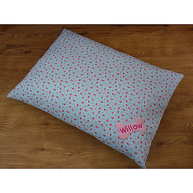 Snoozers - Blue Personalised Dog Duvet Bed
